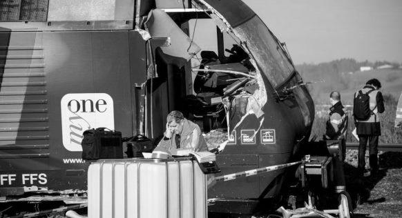 Collision latérale à Rafz (ZH): le Conseil fédéral entend restreindre l'accès aux rapports de sécurité dans les transports publics. (Photo RDB/SI/Adrian Bretscher)