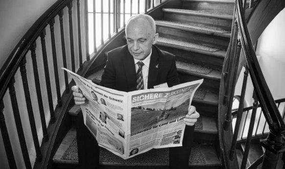 Le ministre des Finances Ueli Maurer déteste lire des articles sur les scandales dans les marchés publics. (Photo RDB/SI/Reichenbach)